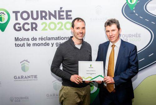 Remise de distinction lors de la Tournée GCR2020 à Sherbrooke